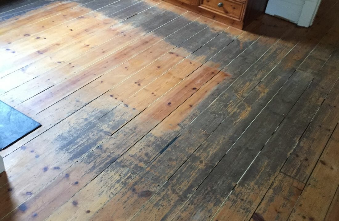 affordable floor sanding before image